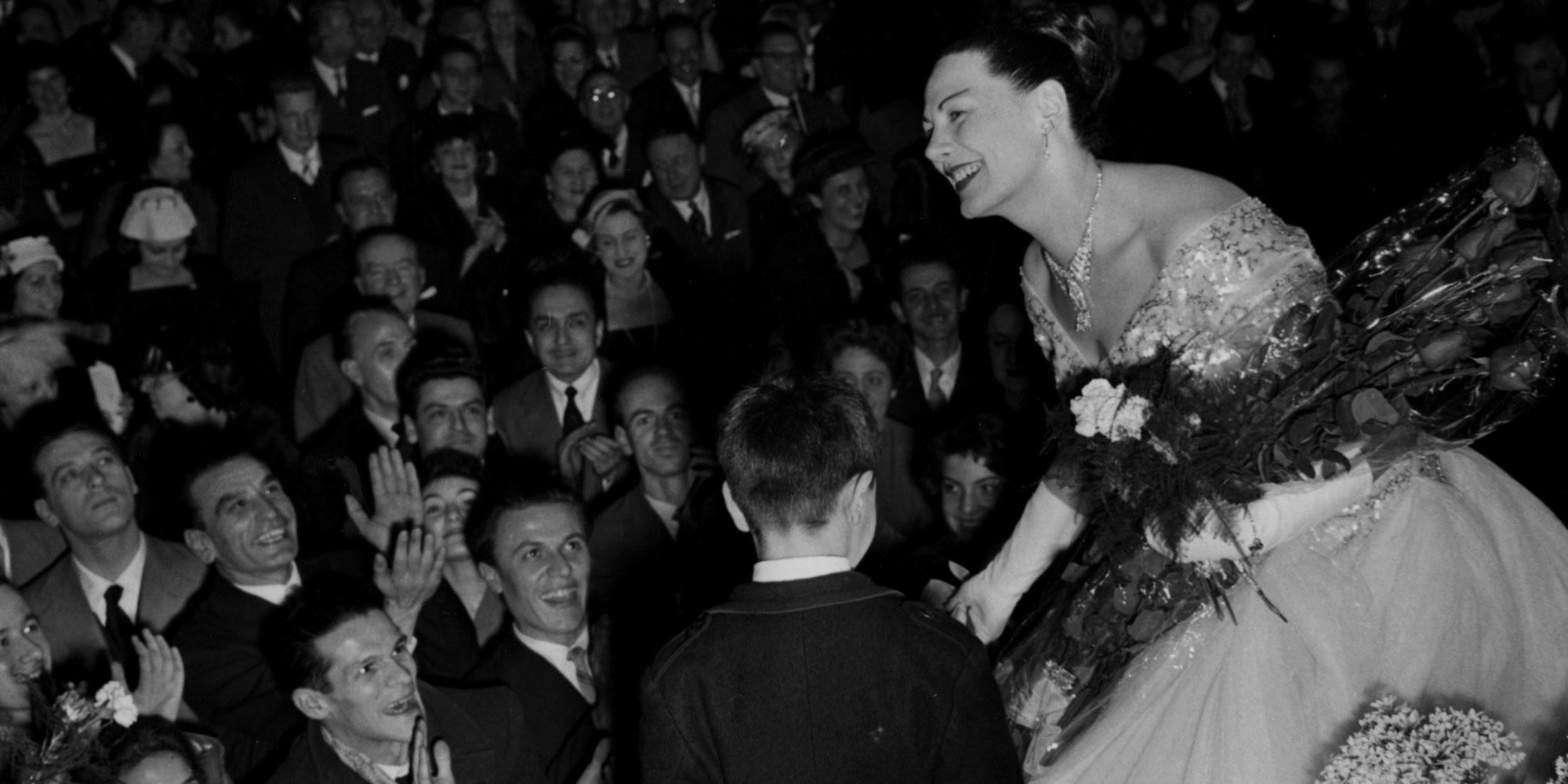 Renata Tebaldi, teatro Manzoni Milano, 1957